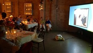 video projector and screen